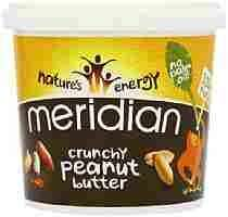 2 Tubs of 1kg Meridian Natural Crunchy Peanut Butter are now only £7.59 at Amazon (add on item / £20 spend)
