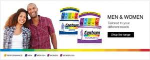 Centrum Vitamins Tablets  half price & then 3 for 1 @ Boots - works out at £1.18 for pack of 30 instead of £7.09