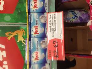 Persil All In One Dishwasher Tablets x 28 £2.47 at Morrisons