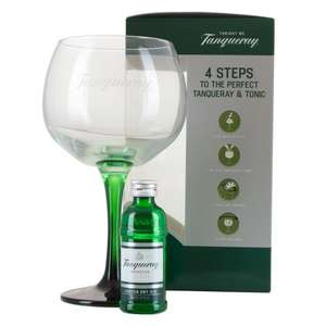 Tanqueray Gin 5cl & Glass Gift Set - £3.50 Instore Nationwide @ Sainsburys