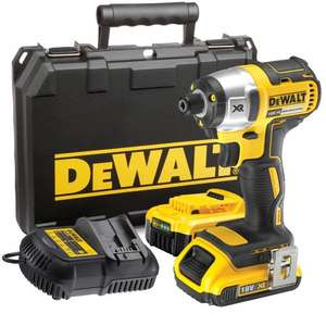 DeWalt DCF886D2 18v Cordless XR Brushless Compact Impact Driver with 2 Lithium Ion Batteries 2ah £159.95 @ Tooled Up