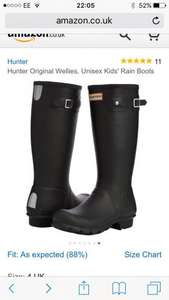 Hunter Wellies - Black size uk 4 £19.38  (Prime) / £24.13 (non Prime) @ Amazon