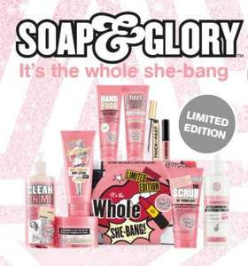 Soap and Glory the whole shebang set now £25 at boots, £22.50 with student discount