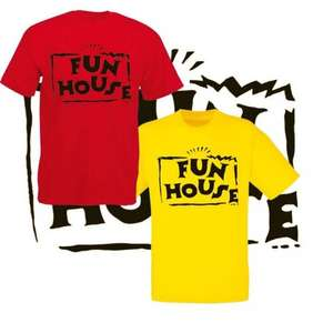 Fun House T Shirt - Red or Yellow £7.14 delivered @ Ebay / Red box clothing (Not sure? Mullet over)