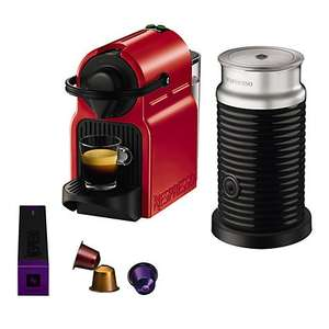 Nespresso Inissia Coffee Machine with Aeroccino by KRUPS in Red Just £89.95 with £75 Nespresso Voucher @ John Lewis
