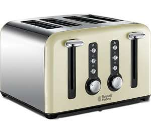 Russell Hobbs Windsor 4-Slice Toaster - Cream with 3 year guarantee £17.99 @ Currys C&C