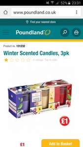 scented candles £1 @ Poundland
