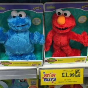 Furchester 'Let's Cuddle' Elmo and Cookie Monster - £1.99!! @ Home Bargains