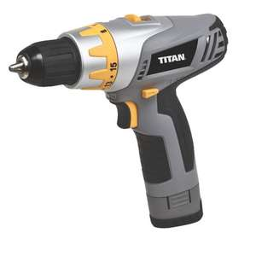 Titan TTP451DDH 10.8V 1.3Ah Li-Ion Cordless Drill Driver £34.99 (was £49.99) @ Screwfix
