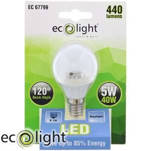 Ecolight E14 Daylight LED Bulbs (Case of 12) @Home Bargains Now: £29.88 RRP £93.00 Saving: £63.12