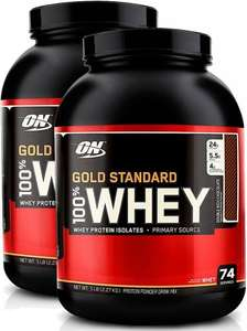 TWO 2.27kg tubs (4.54kg) of Optimum Nutrition 100% whey protein isolate and 3 x 250ml Lynx shower gels. £41.30 delivered @ Amazon S&S (works out FROM £19.52 per 2.27kg)