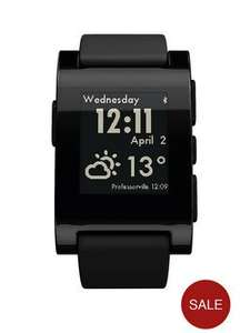 Pebble smartwatch Black £47.99 @ very