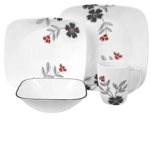 World Famous & Unique Corelle Break, Chip, Crack, Stain, Fade & Scratch Resistant 16 piece Dinner Set on Sale at World Kitchen for £47.99 + £6.99 Shipping - Amazing Dinner Ware Less than Half Amazon Price - £54.98 (£6.99 P+P) Spend £75 for Free Deliv