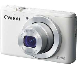 CANON PowerShot S200 Compact Camera WiFi - White £79 @ Currys
