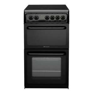 Hotpoint HAE51KS Black Electric Cooker (Ceramic Hob, Fan Oven) - £284.99 INCLUDING DELIVERY, INSTALLATION, RECYCLING @ Argos (6.06% TCB too!)