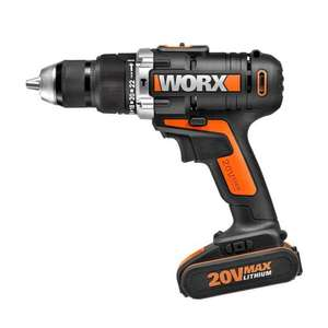 Worx 20V Li-ion hammer drill WX372.5 @ Homebase £39.93 (stock clearance)