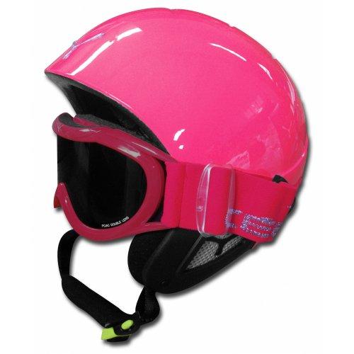 Cebe Kids Twinny Snowsports Pink Stars Helmet & Goggles 50-52cm £19 +P&P @ craigdon