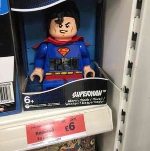 Lego Superman Clock £6 @ Sainsburys
