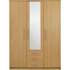 Normandy 3 Door 3 Drawer Large Mirrored Wardrobe £155.31 delivered @ Argos