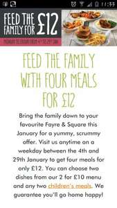 Feed the family for £12 @ Fayre & Square