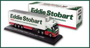 Eddie Stobart Volvo Fridge Trailer die cast model replica £2.99 New and Delivered @ Atlas Editions