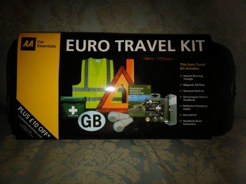 AA Euro Travel Kit at B&M, reduced to £1.