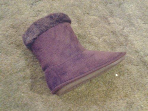 Suedette machine washable memory foam slipper boots now £2 @ Primark