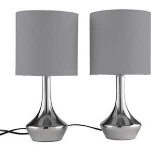 Pair of Touch Table / Bedside Lamps - All Colours Available £10.49 @ Argos