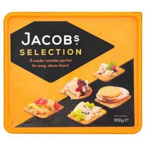 Jacobs crackers 900g box £2.50 at Sainsbury's