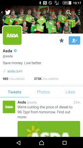 Asda Diesel Now 99.7p