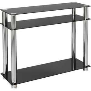 Hygena Matrix Console Table - Clear Glass £30 / Black Glass £40 @ Argos