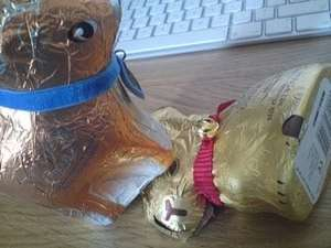 Chocolate Reindeer (milk and dark) reduced to 50p at Aldi