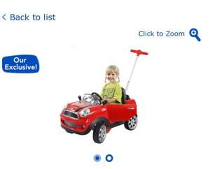 mini cooper push buggy - red also pink £59.99 @ toys r us - hotukdeals