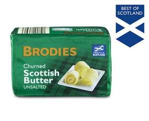 Brodies Scottish Butter - salted or unsalted - 250g pack for 75p @ Aldi
