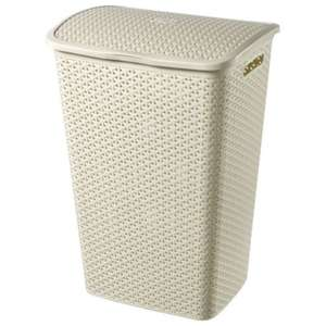 Curver My Style 55L Laundry Hamper Cream & Brown available £6 free C&C Tesco direct
