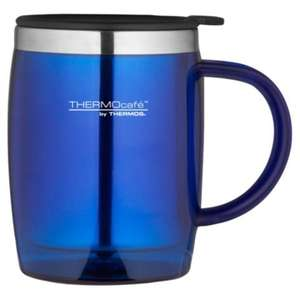 Thermos ThermoCafe Desk Mug, Blue for £3, Free ClickandCollect, £3 extra for Standard Delivery @ Tesco Direct