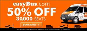 50% off seats  to various London\Paris airports from multiple locations in London\CDG @ Easybus