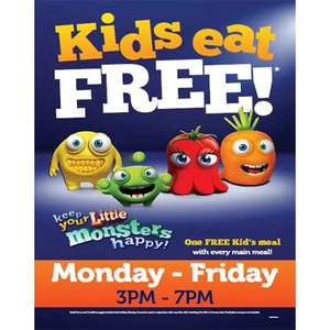 Kids eat free at Marstons 2 for 1 Pubs (With every main meal)