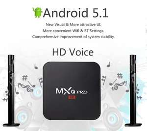 MXQ Pro Amlogic S905 Android TV box, runs Kodi and Plex