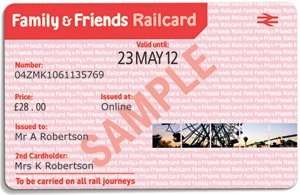 Family and Friends Railcard for £15 of Tesco vouchers