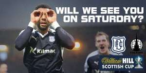 Dundee v Falkirk Scottish Cup tue 9th January Kids U12 go FREE Discount for Adults also