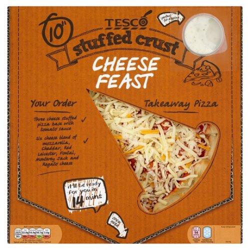 Tesco Takeaway Stuffed Crust Cheese Feast Pizza + Dip [490g] £1.87 @ Tesco