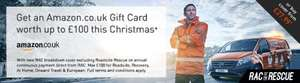 Get up to £100 Amazon Gift Card (+QUIDCO) with  RAC Breakdown cover