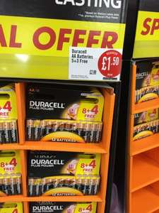 12 Duracell Plus Power AA Batteries Reduced To £1.50 @ Iceland