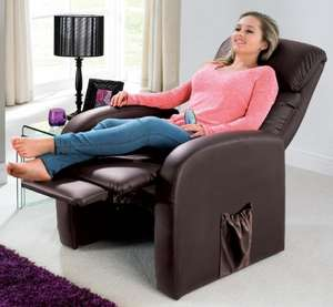 Recliner Chair With Massager - £184.99 - 24Studio