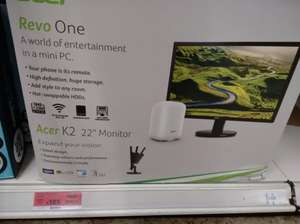 "Acer Revo One Nettop Intel Celeron 2gb RAM 60gb SSD + Acer K2 22"" Monitor £165 at Sainsbury's Farnham (Water Lane) - plus other locations"