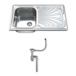 £46.49 RRP £83.68 - save £37.19 (44% OFF*) Stainless Steel Kitchen Sinks, Drainer & Waste, Choice of Tap. 1001 SINK & K01 TAP @ To Your Home Limited / Ebay