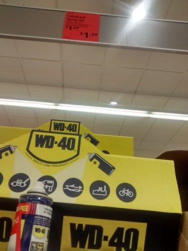 wd 40 220ml can £1.39 at Aldi