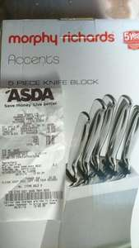 morphy Richards 5 piece knife block £20 @ Asda instore