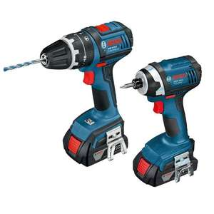 Bosch 18V 1.5Ah Li-Ion Twin Pack Combi Drill & Impact Driver £149.99 (Was £179.99) @ Screwfix
